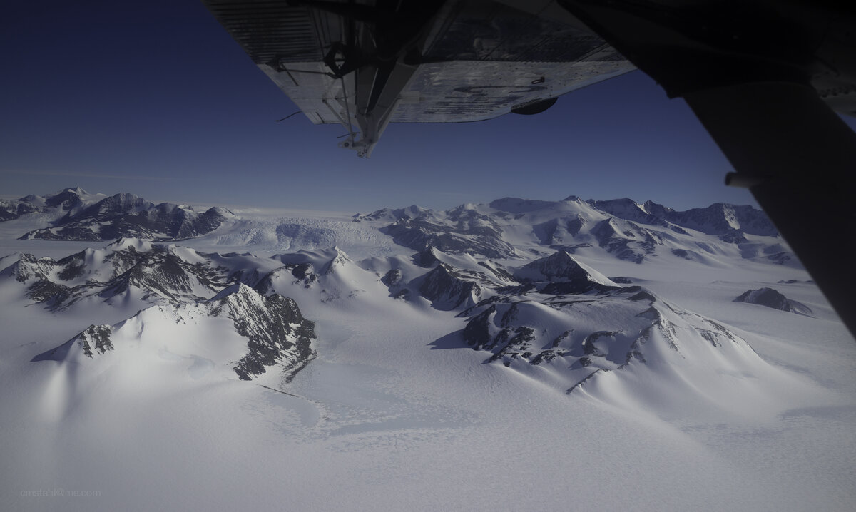 View from Twin Otter on scenic flight