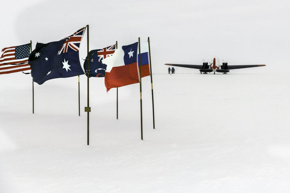 Basler BT-67 aircraft at South Pole