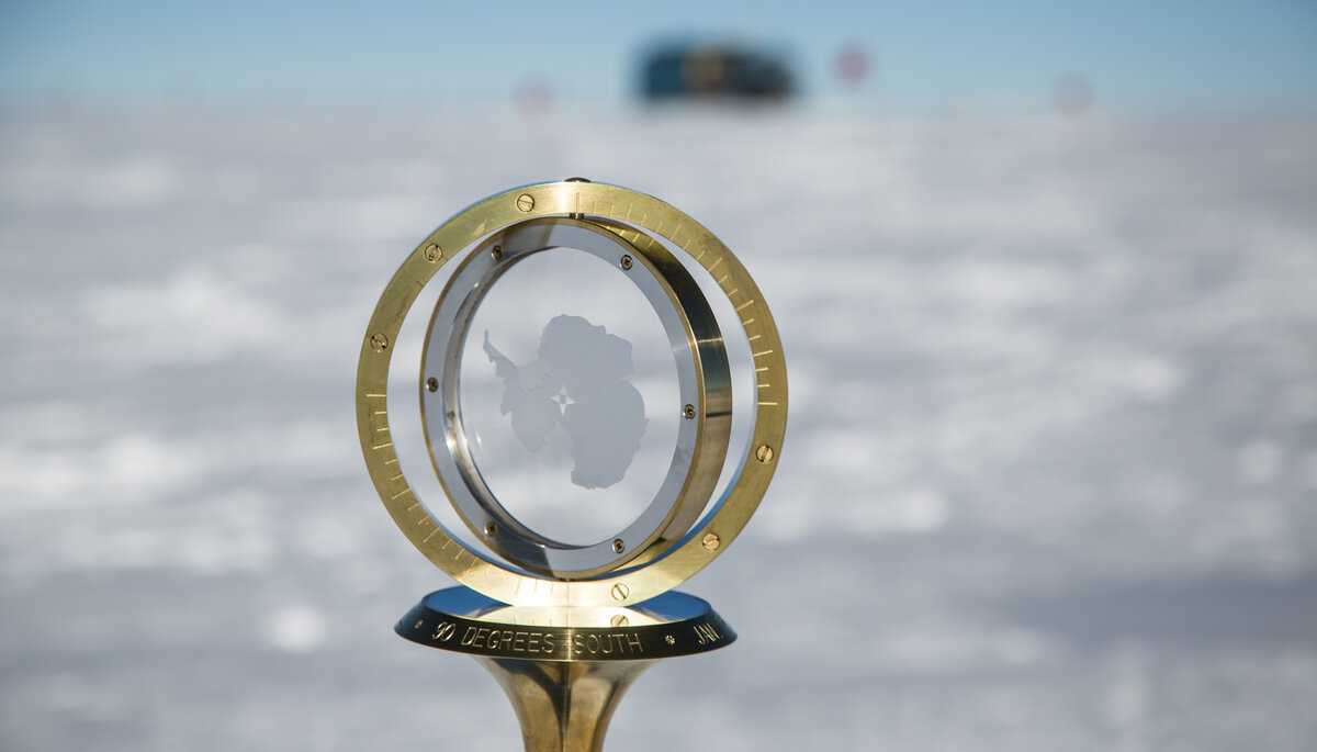 2015 Geographic South Pole marker