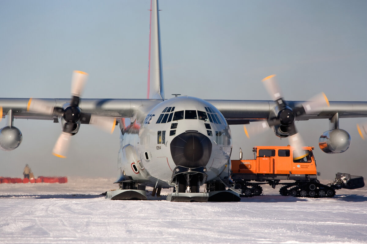 Begin flight and logistic support for National Antarctic Programs, 2003