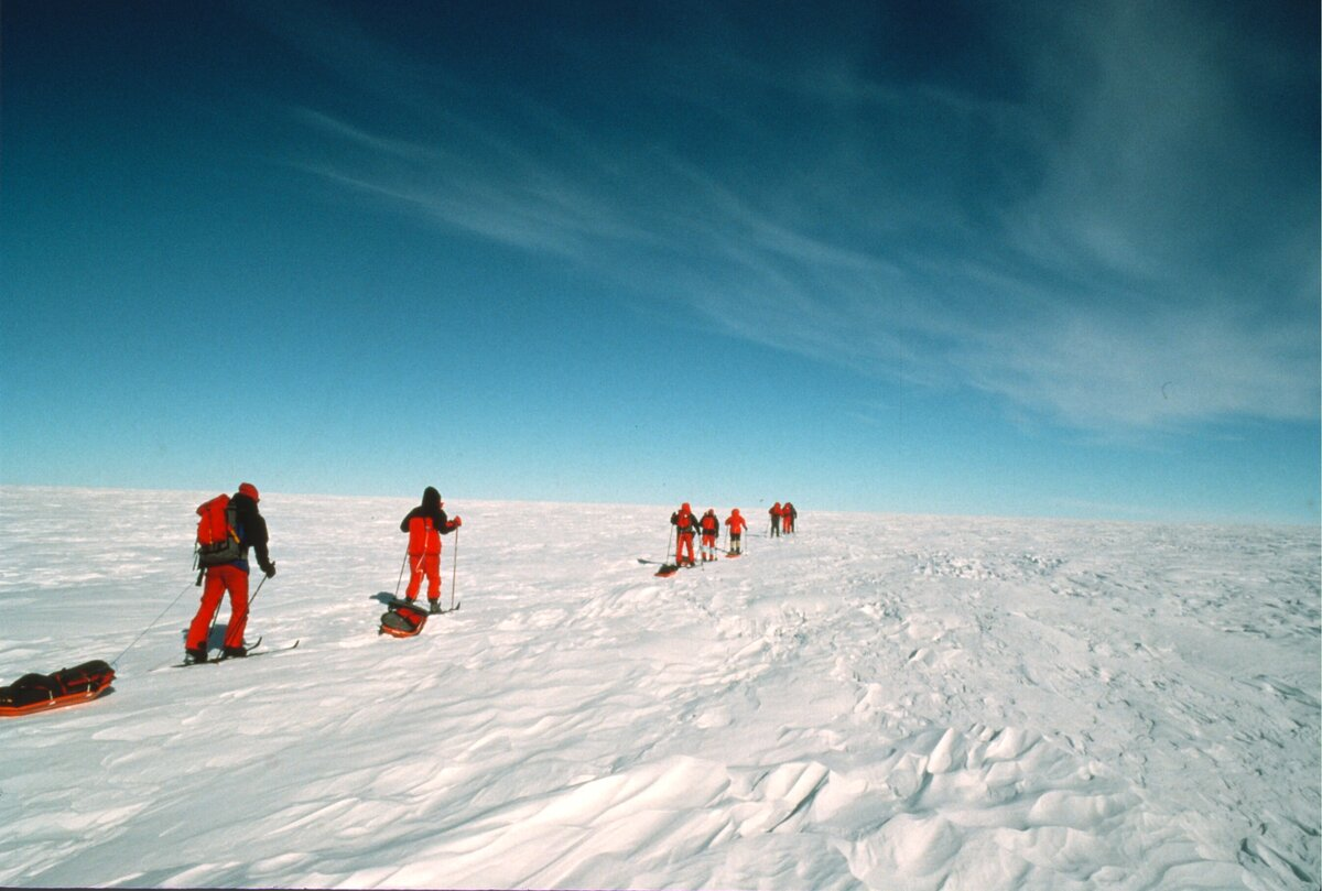 First guided Ski South Pole expedition, 1988-89