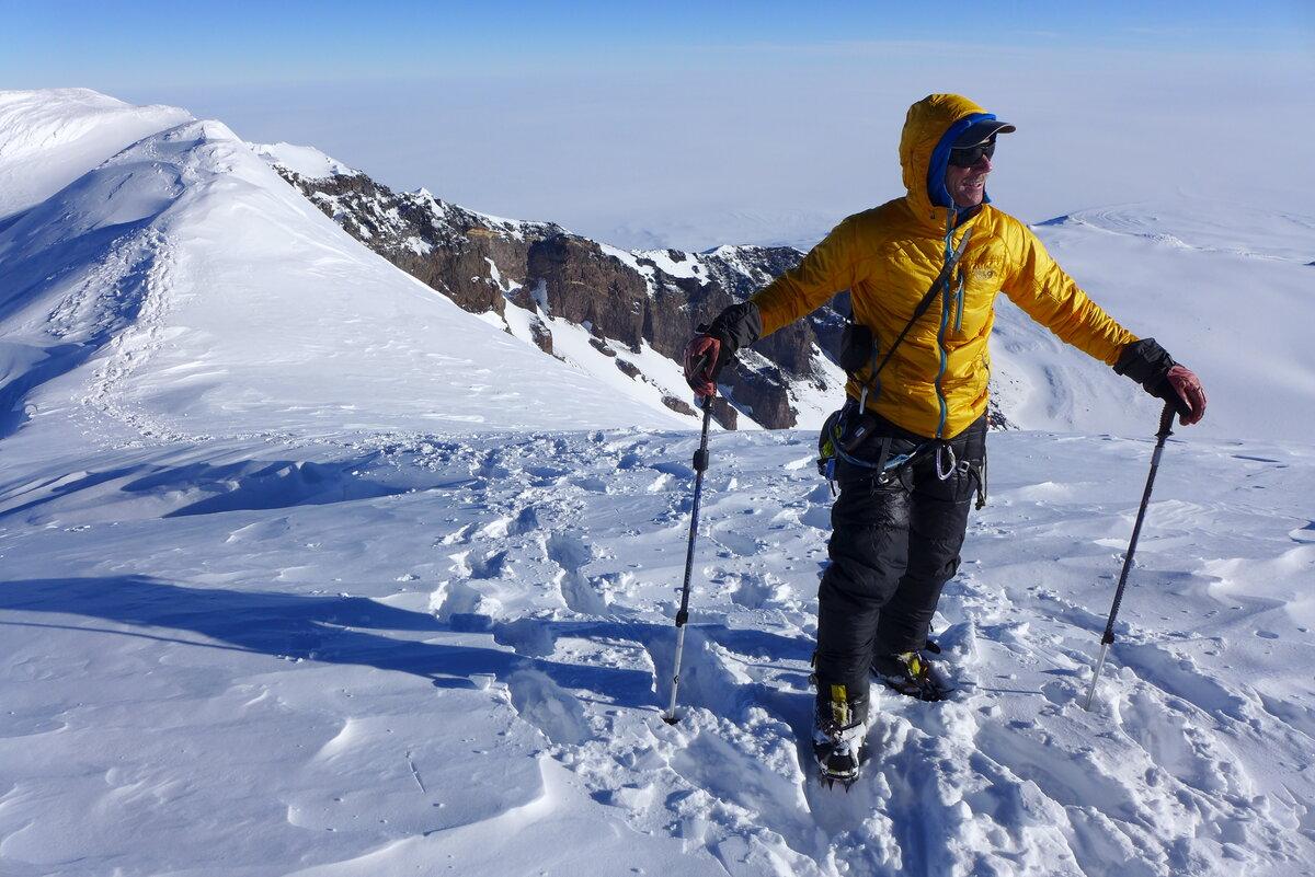 ALE Guide Scott W. on the summit ridge