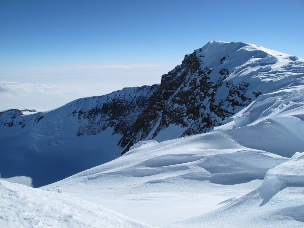 Mount Sidley summit and caldera