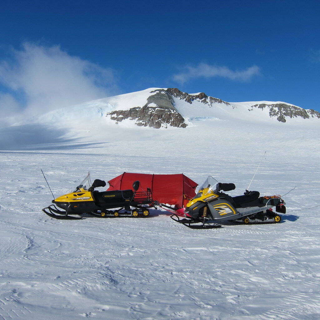 Climb Antarctica field camp on Larson Glacier
