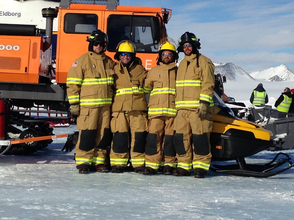 ALE's fire safety team in turnout clothing
