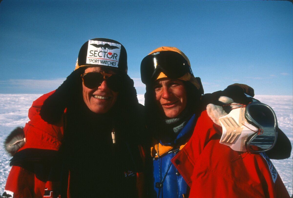 Longest crossing of Antarctic Continent by two women, 2000