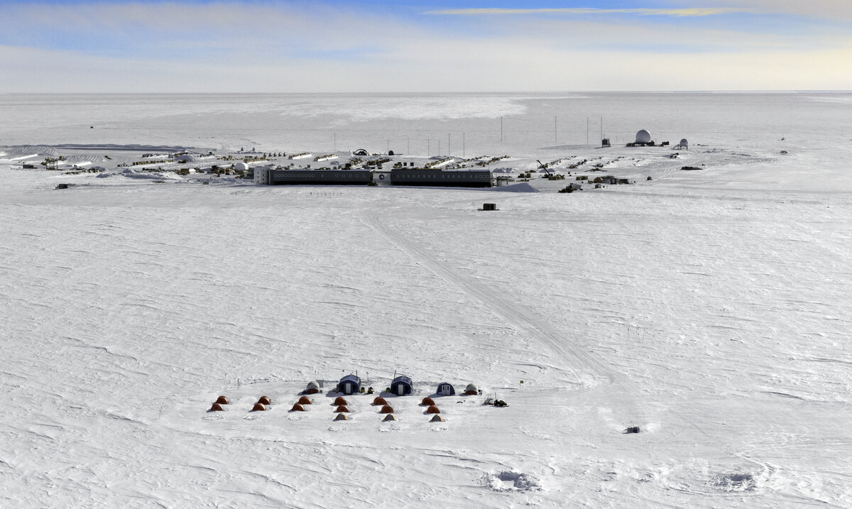Amundsen-Scott South Pole Station and ALE's South Pole Camp