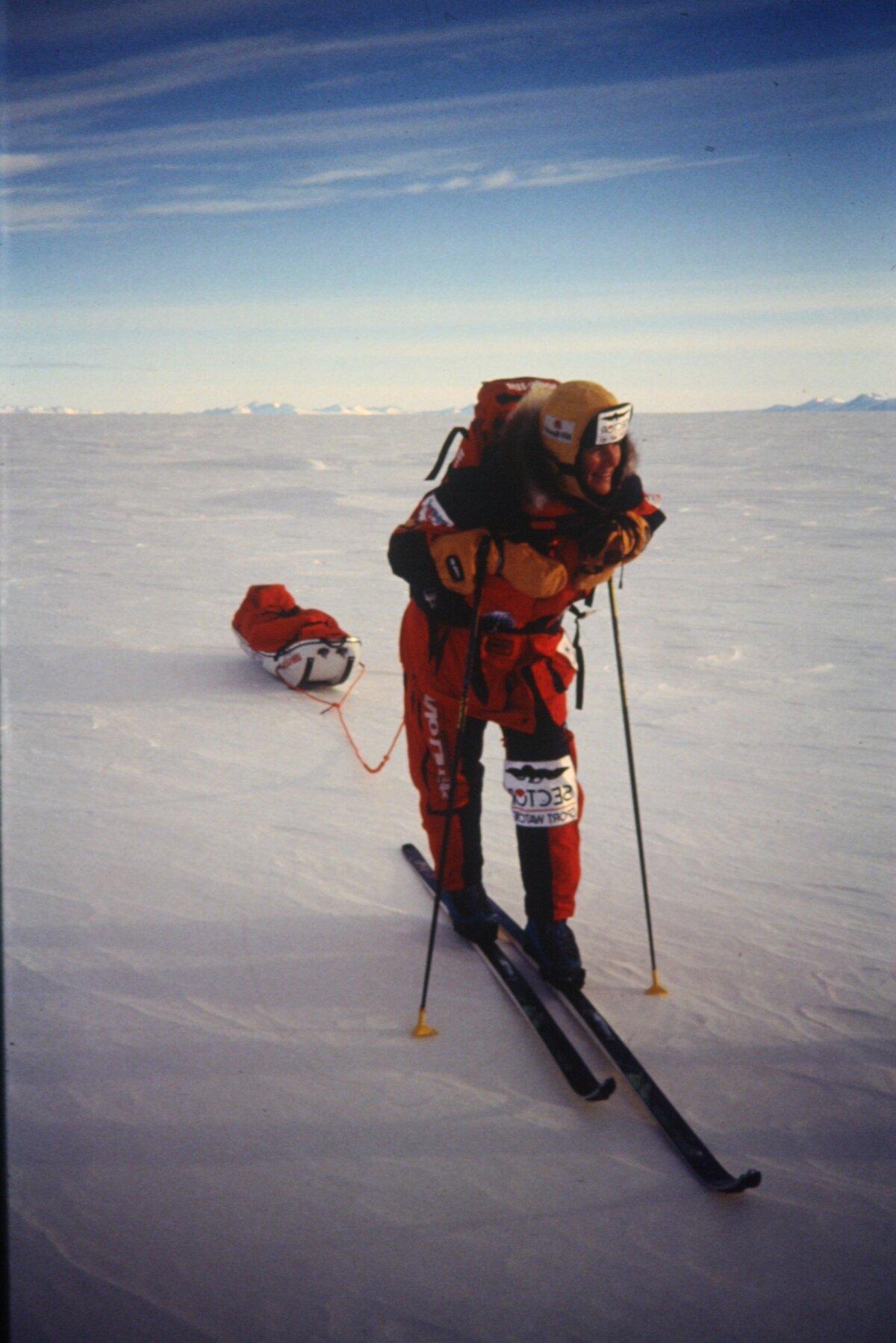 Liv Arnesen, first woman to ski solo to South Pole