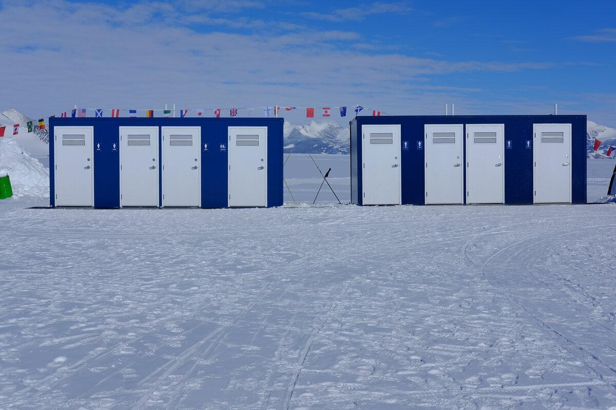 Toilet facilities at Union Glacier Camp