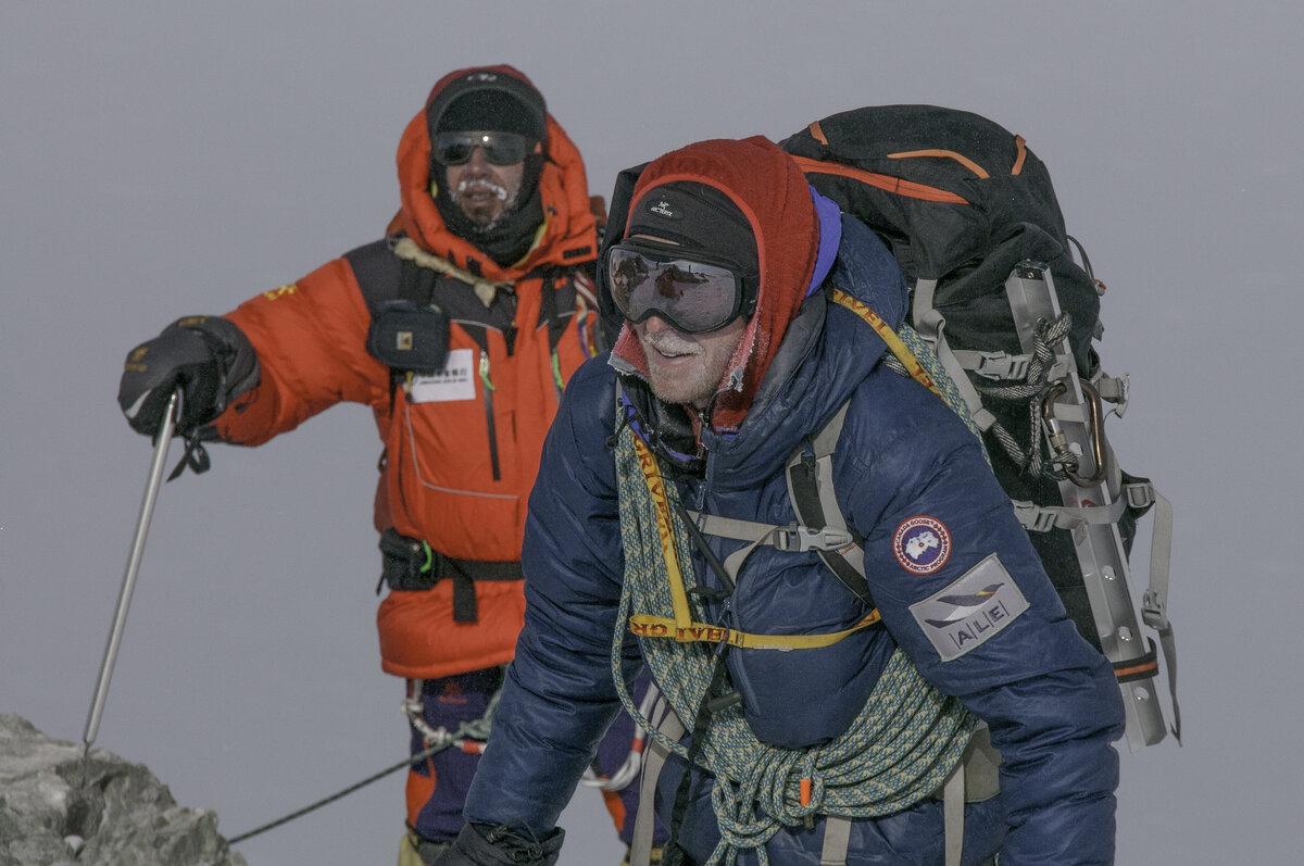 Nearing the summit of Mount Vinson