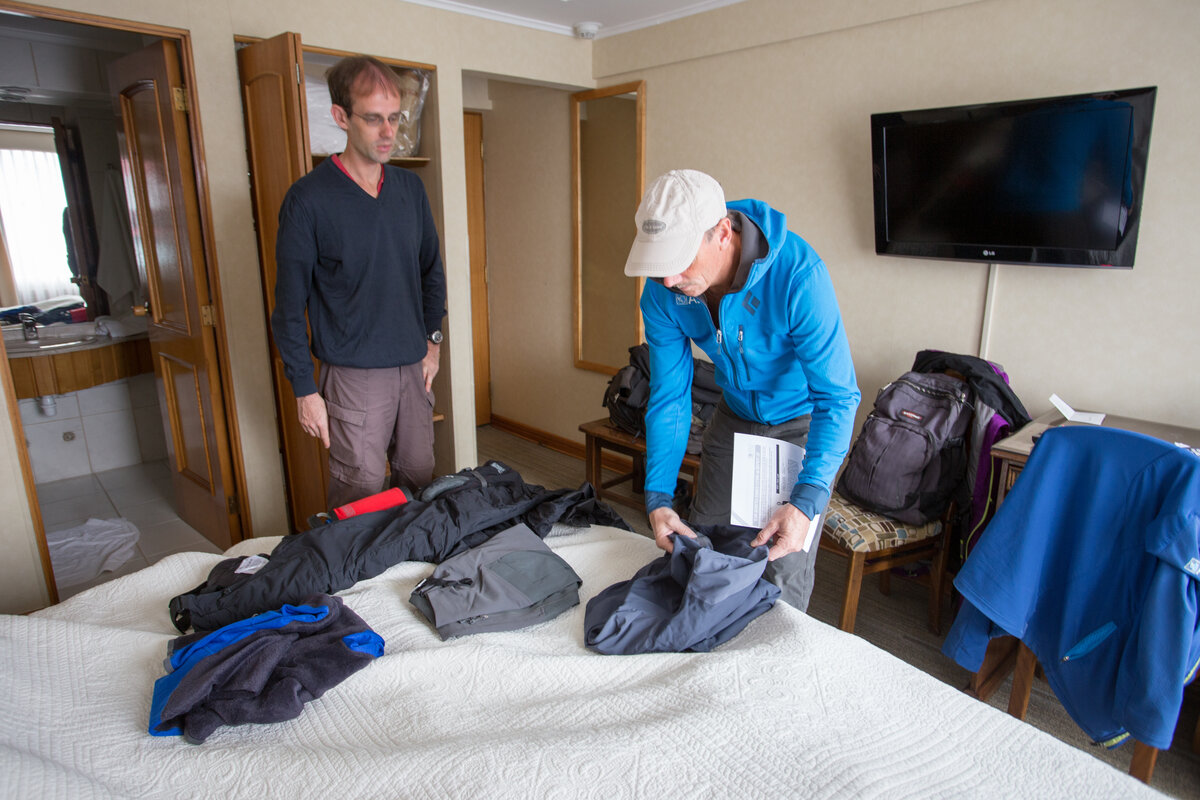 Bring everything on the required clothing & equipment list