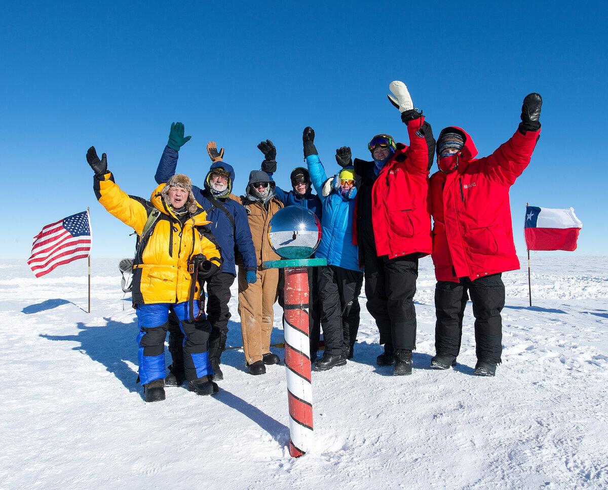 Guests celebrate at Ceremonial South Pole