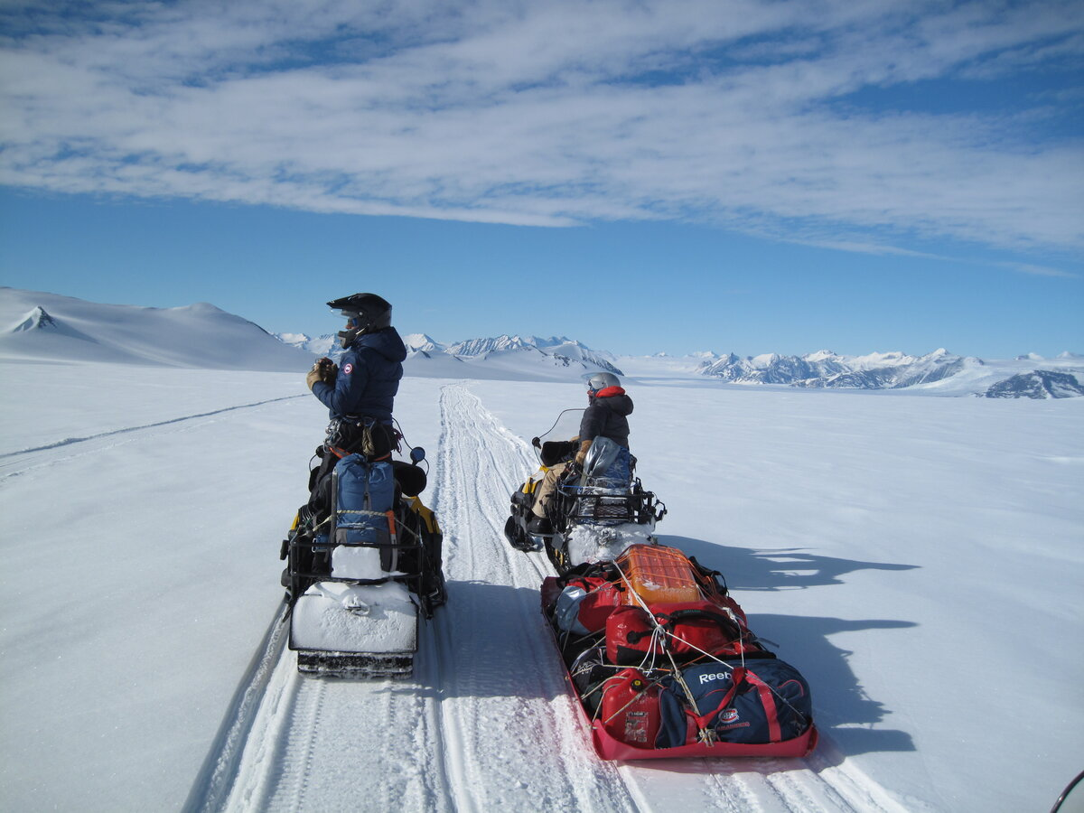 Snowmobiling to the Larson Valley