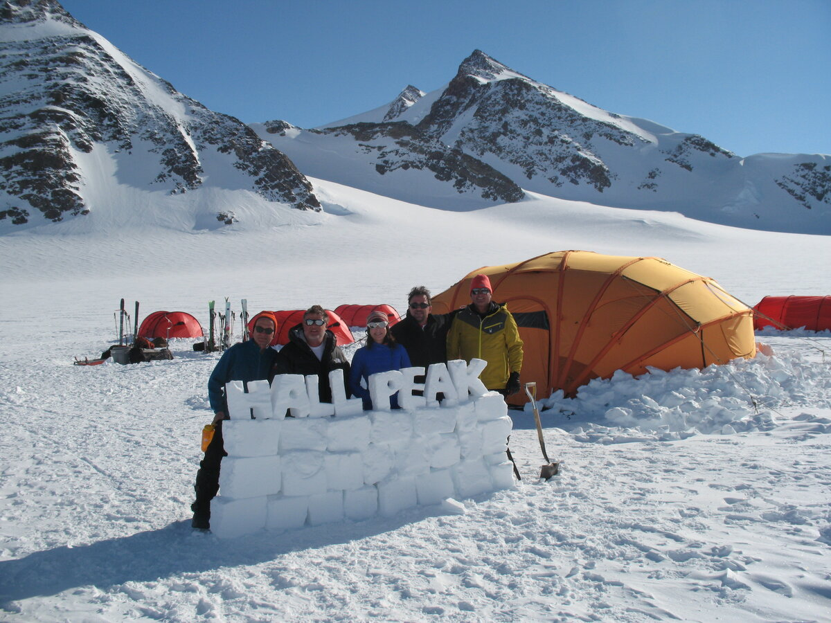Climb Antarctica field camp near Hall Peak