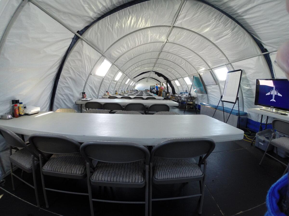 Fram dining tent interior